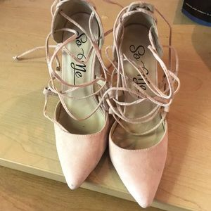 LULUS LACE UP HEELS! NEVER WORN